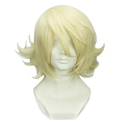 RightOn 32cm High Quality Layered Light Blonde Cosplay Wig