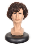 Yuehong Sherlock Holmes Short Curly Brown Cosplay Wig Halloween Cosplay .