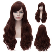 Women's 70cm Long Wavy With Bangs Synthetic Cosplay Full Wig