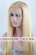 Chantiche® 7a Virgin Brazilian Blonde Silk Straight Lace Front Wigs for White Women 100% Remy Human Hair Glueless Wigs Transparent Lace Colour 120 Density Medium Size Cap 36cm #613