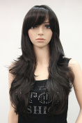 Kalyss Women's Long Hair Dark brown wig