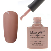 Beau Gel Soak Off Gel Nail Polish Nail Art 7.3ml UV LED Manicure Lacquer Perfect For Home & Professional Nail Salon Use