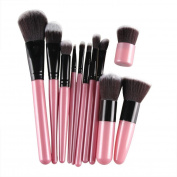 Creazy® 11Pcs Cosmetic Brush Makeup Brush Sets Kits Tools