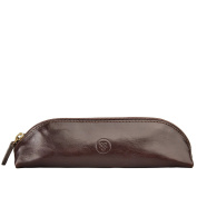 Maxwell Scott® Luxury Italian Leather Pen / Pencil Case