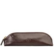 Maxwell Scott® Luxury Italian Leather Pen / Pencil Case