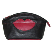 Hot Lips Leather Cosmetic Make-up Case