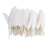 100 Pcs 7.6cm - 15cm White Goose Feather for Home Wedding Party Crafts