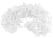 1.8m Adult Party Costume Decoration Feather Boa White