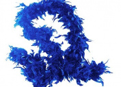 1.8m Adult Party Costume Decoration Feather Boa Royal Blue