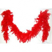 1.8m Adult Party Costume Decoration Feather Boa Red