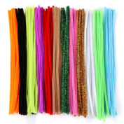 Caydo 120 Pcs Pipe Cleaners Chenille Stem 6 mm x 12 Inch, Assorted Colours