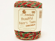 Beautiful Chunky Red, Green & Gold Sparkle 20m Spool of Baker's Twine by James Lever 'Everlasto'