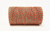 Quality Cotton Red, Green & Gold Baker's Twine 100m by James Lever 'Everlasto'