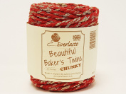 Beautiful Chunky Red & Gold Sparkle 20m Spool of Baker's Twine by James Lever 'Everlasto'