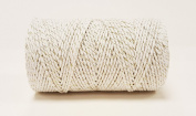 Quality Cotton White & Gold Sparkle Baker's Twine 100m by James Lever 'Everlasto'