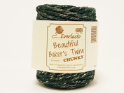 Beautiful Chunky Green & Gold Sparkle 20m Spool of Baker's Twine by James Lever 'Everlasto'