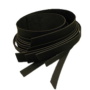 """Genuine Oiled Buffalo Leather Strips 240ml Black & Brown 46"""" to 52"""" (1/2""""-4"""") (1/2"""""""