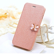 ELEOPTION iPhone7 cases With Belt Clip Wallet Silk Pattern Stand Flip Leather Stand for Women Gilrs
