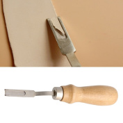 LAYs Leather Edge Skiving Beveling Cutting Tool for DIY Hand Craft Leathercrafting