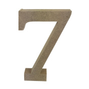 Dovecraft Wooden MDF decorative Embelishment Letter Collection Number - 7