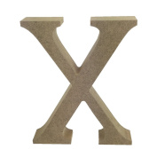 Dovecraft Wooden MDF decorative Embelishment Letter Collection Letter - X