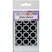 That's Crafty Dinky Stencil 7.6cm x 12cm -Moroccan Background