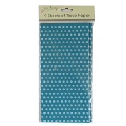 Printed Tissue Paper - Green Polka Dot - 9 Sheets - Size 8.1m x 6m