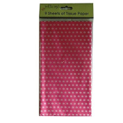 Printed Tissue Paper - Pink Polka Dot - 9 Sheets - Size 8.1m x 6m