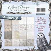 Amy Design Wintertide 6X6 Paper Pack 23 2-Sided Sheets