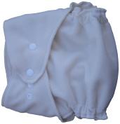 Little Bear Bums Micro-Fleece Nappy Cover, NB/Preemie, Ivory