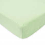 TL Care Heavenly Soft Chenille Crib Sheet, Celery, 70cm x 130cm