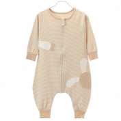Unisex Baby Cotton Sleeping Bag Long Sleeve Wearable Blanket