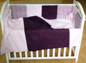 Handmade Baby Bedding Set Cotton Multicolor Pink Crib Bumpers Handcrafted