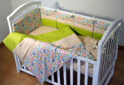 Handmade Baby Bedding Set Unisex Cotton Multicolor Crib Bumpers Handcrafted