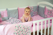 Handmade Baby Bedding Set For Girl Cotton Multicolor Crib Bumpers Handcrafted