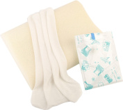 Cervical and Hypoallergenic Cool Contour Silicone White Child and Toddler Pillow, Breathable and Washable with Unique Releif and Support