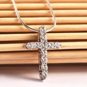 Silver cross Necklaces & Pendants Collares for Women men Mujer Accessories Jewellery