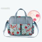 Waterproof Multifunctional Baby Nappy Bags Backpacks Mummy Bags Nappy Backpacks Baby Nappy Floral Style Travelling bag