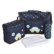 LakeRom Multifunction Baby Nappy Bag Nappy Changing Pad Travel Mummy Bag Tote Handbag Set