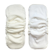 Eworld66 5 Layer Charcoal Bamboo 12Pcs Inserts Reusable Liners for Cloth Nappies with Gussets