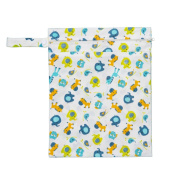 KAWAII BABY CLOTH nappies WETBAG 2 ZIPPERED POCKETS 34cm x 27cm