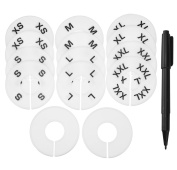 Blulu Clothing Size Dividers Closet Round Hangers Dividers, Blank and Size XS to XXL, 14 Pieces