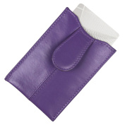 Pop-up Purple Leather Card Holder