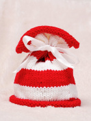Baby Box Cute Hat Newborn Baby Props Design,White and Red