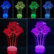 3D Night Lamp Rose