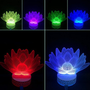 3D Night Lamp Lotus Flower