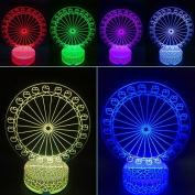 3D Night Lamp Ferris Wheel