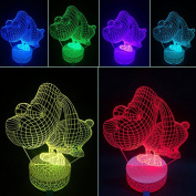 3D Night Lamp Cute Dog