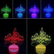 3D Night Lamp Castle in the Sky