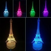 3D Night Lamp Paris Tower